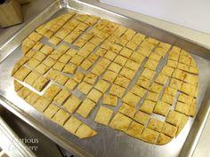 Sourdough Cheese Crackers via Curious Cuisiniere #SUNDAYSUPPER