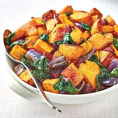 Roasted Butternut Squash with Baby Spinach and Cranberries - Wegmans