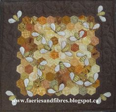 Faeries and Fibres: Hexagon Ideas! Tutorials and tips for how to do bees
