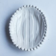 Flat Soap Dish with Beads (each sold separately)   Frances Palmer Pottery