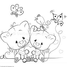 Cute Cat 13 Coloring Pages