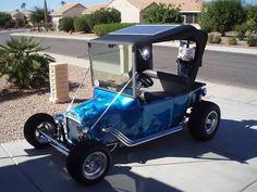 T-Bucket golf cart 5 Custom Golf Cart Bodies, Custom Golf Carts, Golf Cart Body Kits, Golf 7 R, Go Kart Plans, Electric Golf Cart, Electric Car, Golf Cart Batteries, T Bucket