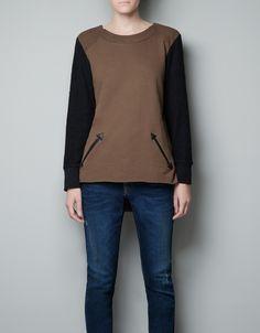Combined Velour Sweatshirt
