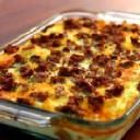 Make Ahead Breakfast Casserole.  Just made this for over 100 people this morning.  The picture is wrong but it made me pick something.  It is fantastic!