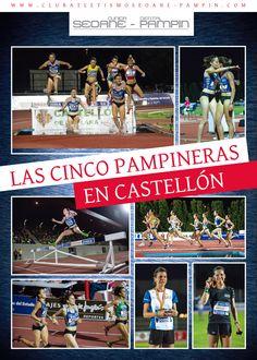 Póster Atletismo: para el club Clínica Dental Seoane-Pampín, para celebrar las tres medallas (oro y bronce en 3000 obst. y plata en 1500 m.) en el 95º Campeonato de España Absoluto de Atletismo