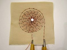 Embroidered speaker coil by Plusea