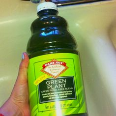 Looks gross tastes amazing! If you've ever had Naked's Green Machine this is even better! Trader Joe's Green Plant juice.  Less sweet than Green Machine and about half the price ringing up at $3.69 for 64FL OZ! Five juice blend of: Spirulina, chlorella, barley grass, spinach and broccoli.  It does have fruit purées mixed in as well to give it a sweeter flavor. Great for after workouts!