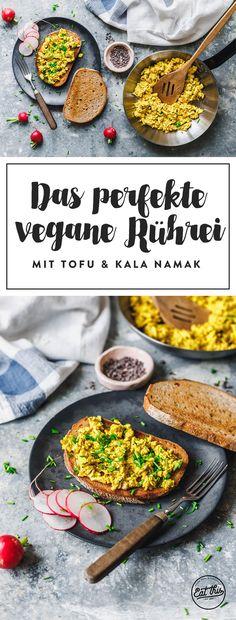 Unser allerliebstes Rezept für veganes Rührei mit Tofu. Leicht schlotzig, richtig dekadent und mit Kala Namak ein Traum für jeden Sonntags-Brunch.