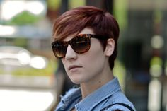 Tortoise shell shades and a perfect summertime cut…