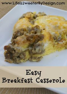 Easy Breakfast Casserole - Life is Sweeter By Design