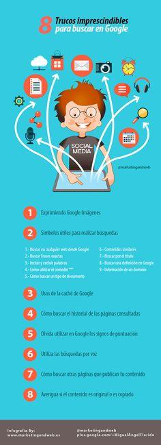 8 trucos imprescindibles para buscar en Google, por Muñoz Parreño  A través de Xosé Alberte Cea