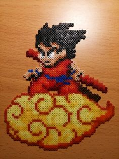 Goku Dragon Ball hama beads by Factory Beads