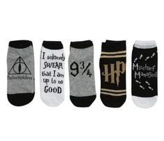 (Back in stock) - Harry Potter Deathly Hallows No-Show Socks 5 pack