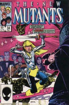 New Mutants 34 - Steve Leialoha Marvel Comic Universe, Marvel Comic Books, Marvel X, Comics Universe, Comic Books Art, Comic Art, Comic Book Pages, Comic Book Covers, Comic Book Characters