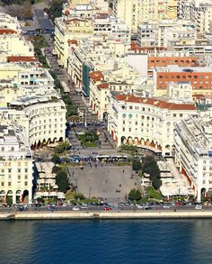 Aristotelous Square by the sea. Thessaloniki is the second biggest town in mainland Greece. Macedonia Greece, Greece Thessaloniki, Albania, Mykonos, Places To Travel, Places To Visit, Bulgaria, Greece Travel, Countries Of The World