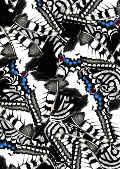 """Part of the IMPRINT project by NINA WARMERDAM.""""For the IMPRINT project I create a new pattern every 48 hours. It is a way for me to do what I love and at the same time push myself to keep discovering new techniques and stay innovative. Motifs Textiles, Textile Prints, Textile Patterns, Textile Design, Butterfly Print, Butterfly Wings, Surface Pattern Design, Pattern Art, Abstract Pattern"""