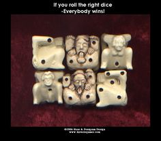 The naughty dice we make http://historicgames.com/RPdice.html
