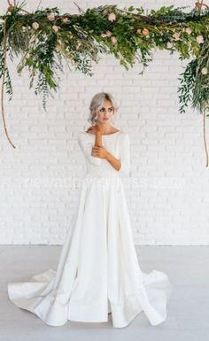 Beautiful long sleeve wedding dresses 7