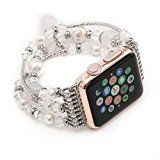 GBSELL Fashion Sports Beaded Bracelet Strap Band For Apple Watch Series 2/1 38mm (A) - http://www.painlessdiet.com/gbsell-fashion-sports-beaded-bracelet-strap-band-for-apple-watch-series-21-38mm-a/