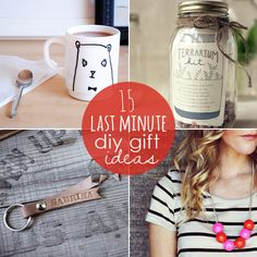15 Last Minute DIY Gift Ideas from Babble.com  Very cute diy mug! Would love to do this and put it in a gift basket!