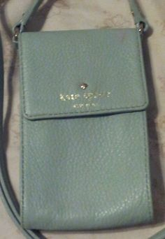 Kate Spade Mint Green Leather Cross Body Credit Card Purse Cobble Hill