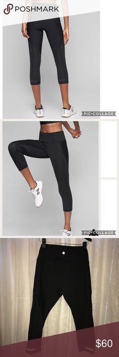 """Athleta stealth capri, black size large Athleta stealth capri, black size large. Excellent like-new condition, only worn once. No piling or signs of wear present. Performance-fitted, high-rise, tight leg. Product details taken from Athleta. Waist lying flat: 16"""". Rise: 9.5"""". Inseam: 21"""" not stretched Athleta Pants Capris"""