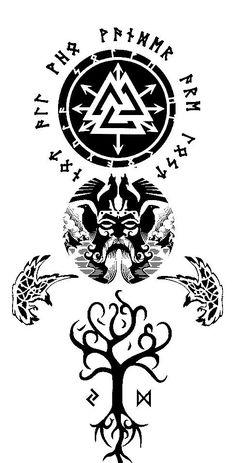 Viking Tribal Tattoos, Viking Compass Tattoo, Viking Tattoo Sleeve, Viking Tattoo Symbol, Tribal Tattoo Designs, Celtic Tattoos, Tattoo Sleeve Designs, Sleeve Tattoos, Geometric Tattoos