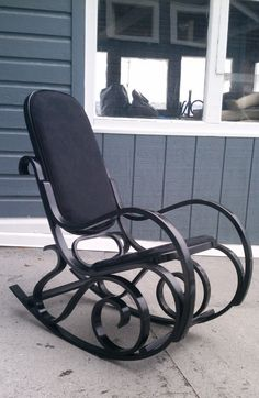 Thronet Bentwood Rocker Hot Rocker by UpholsterySupplies2 on Etsy, $300.00