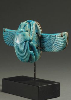 Winged scarab 3 of 3 Circa. Ancient Egyptian Artifacts, Historical Artifacts, Ancient Aliens, Ancient History, European History, American History, Egyptian Scarab, Egyptian Mythology, Egyptian Goddess