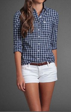 #Plaid, #Abercrombie, #Shorts