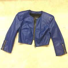 BEBE JACKET BLUE Bebe Stylish Jacket, worn twice to try it on at home, never outside lol. bebe Jackets & Coats
