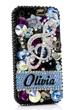 The Music Lover Personalized Design iPhone 5 5s 5c bling case unique phone cover DIY lifeproof for girls