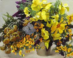 Yellow Flowers by Irina Kupyrova www.INMODERN.com