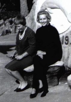 Frances Farmer and sister-in-law, early 1960's