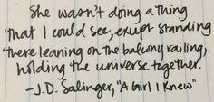 """J.D. Salinger, """"A Girl I Knew"""""""