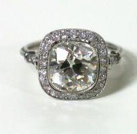 Stunning Art Deco diamond ring thumbnail 2