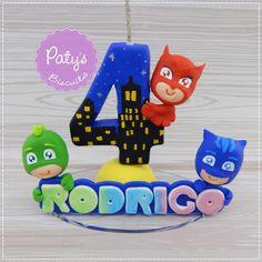 Mini topinho com vela PJ Masks - Paty's Biscuit