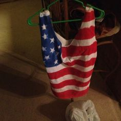 DIY 4th of July spray painted t-shirt