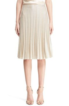 St. John Collection 'Kiklos' Shimmer Knit Pleated Skirt