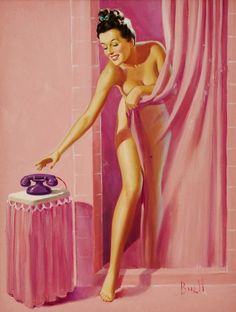 Roger Wilkerson... the Suburban legend., Shower Interrupted, art by Al Buell