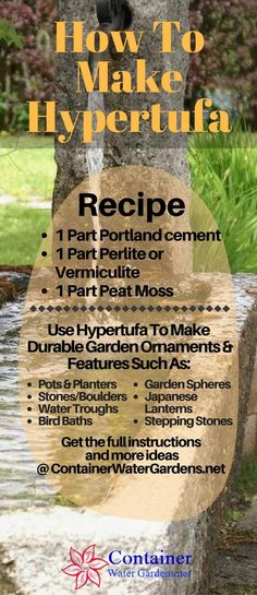 Make Lightweight Garden Art Projects That Last With Hypertufa See the full instructions and outdoor decorative objects you can make with hypertufa. The post Make Lightweight Garden Art Projects That Last With Hypertufa appeared first on Garden Easy. Concrete Crafts, Concrete Art, Concrete Projects, Cement Art, Concrete Table, Container Water Gardens, Container Gardening, Gardening Tips, Indoor Gardening