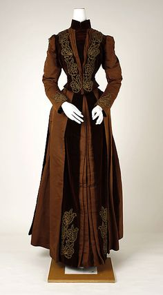 Dress - Dress Date: ca. 1880 Culture: American Medium: silk Dimensions: [no dimensions available] Credit Line: Gift of Miss M. Kopp, 1940