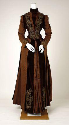 Dress - Dress Date: ca. 1880 Culture: American Medium: silk Dimensions: [no dimensions available] Credit Line: Gift of Miss M. Kopp, 1940