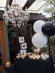 Boy baby shower. Gold, black and white themed