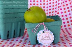 12 FARM FRESH BERRY Baskets-Party Favors-Weddings-Showers--Add Cookies, Cupcakes, Fruit or Gifts- from Etsy (of course) a dozen for $5! I love Etsy