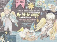 """50% OFF! """"Little angel"""" by Mikibith on @creativemarket"""