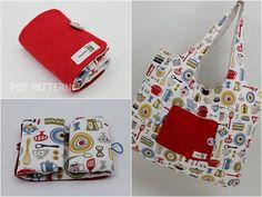 no 196 Eco Friendly Portable Shopping Bag Sewing Pattern PDF. $8.00, via Etsy.