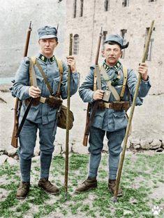WW1 Austro Hungarian alpine infantry 1916. Colourised.