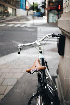 Brooks bicycle seat by BORISHOTS on @creativemarket