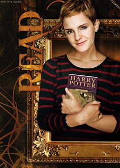 Someone changed the book in the picture to Emma's favorite Harry Potter book. The original book was 'Romeo and Juliet' by William Shakespeare.